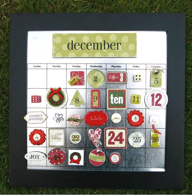 Christmas magnet calendar
